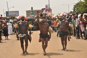 Abia State cultural troupes arriving.