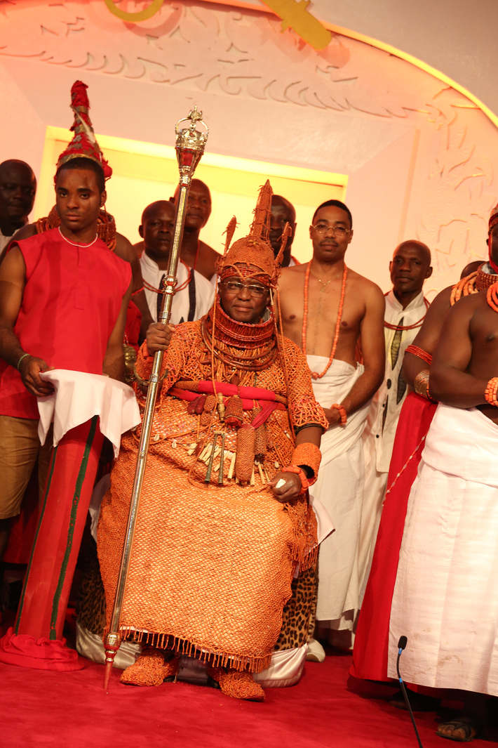 Omo n'Oba n'Edo Uku Akpolokpolo, Oba Ewuare II, Oba of Benin after his coronation