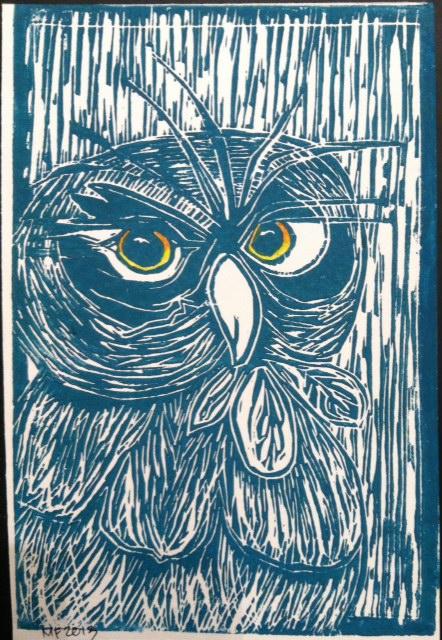 Eyes On You Lino print