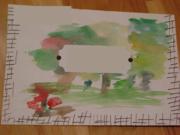 Tree Watercoloured Envelope