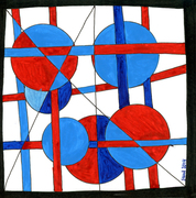 Study In Blue And Red by Suus in Mokum