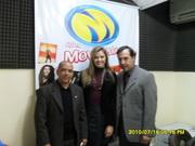 Com a Advogada Monica e o Apresentadora Ari Ignacio - Radio Movimento - Pato Branco