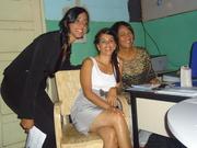 Aiandra Abrantes,Nádia Araújo e Ivone Fernandes.