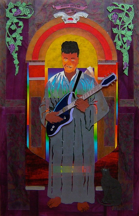 Muddy Waters (Stained Glass proposal for R&R Hall Of Fame.)