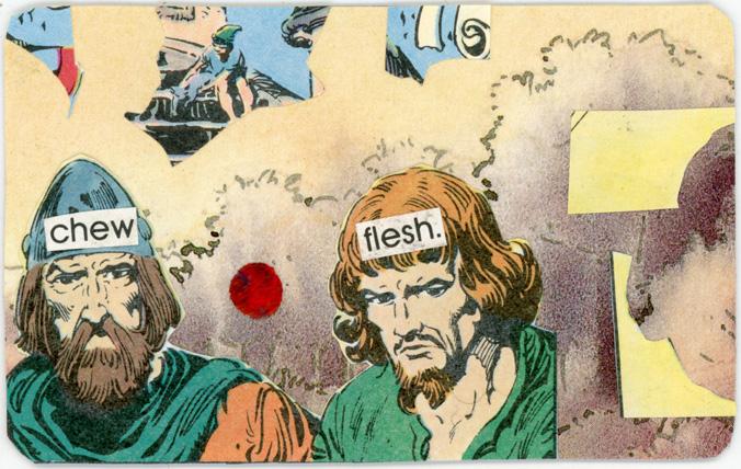 chew flesh