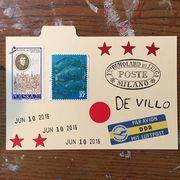 June 10, 2016 postcard for De Villo