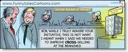 Funny Sales Cartoon on Cross Selling