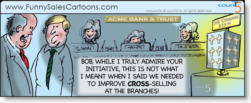 Funny Sales Cartoon on Cross Selling