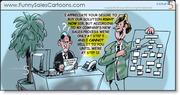Funny Sales Cartoon on Sales Process