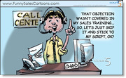 Funny Sales Cartoon on Contact Center Sales