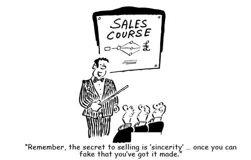 Funny Sales Training Cartoon - sincerity