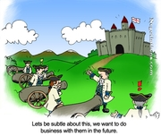 Funny Sales Cartoon - Castle Attack