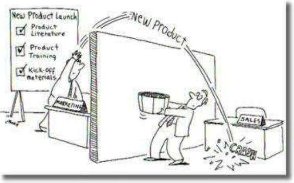 New Product Launch - Sales Marketing Alignment - Funny Cartoon