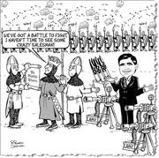 King & Machine Gun Salesman