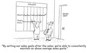 Sales Quota Setting Cartoon