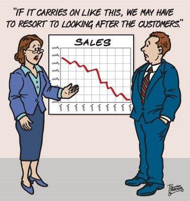 Funny Sales Cartoon - sales forecast