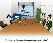 Funny Sales Cartoon - Negotiations Tactic