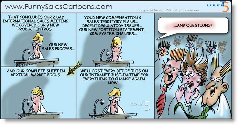 Funny Sales Cartoon on National Sales Meeting