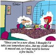 Entertaining a Client - Sales Cartoon
