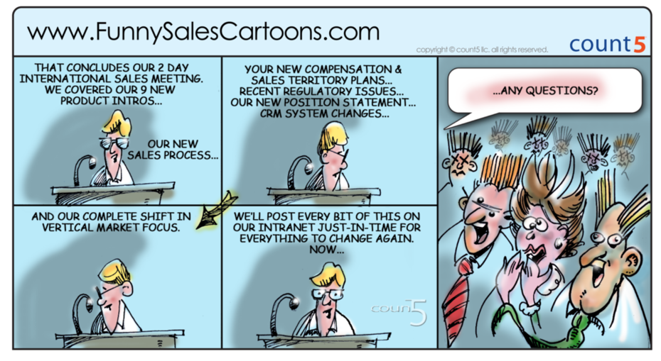 National Sales Meeting Cartoon