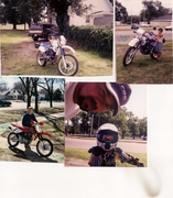 Alex and our dirt bikes