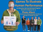 Games To Illustrate Human Performance program held at Connecticut's Science Education Conference on October 13, 2012