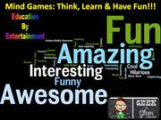 Mind Games: Think, Learn & Have Fun!!! program at the Girl Scouts Geek is Glam STEM event on 2016-10-15