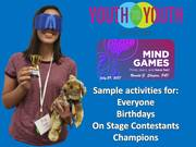 Mind Games: Think, Learn & Have Fun!!! Youth to Youth International Conference, Bryant University, Smithfield, Rhode Island, July 29, 2017, Photo Album.