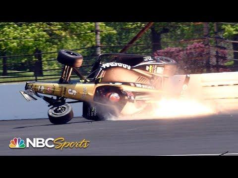 Indianapolis 500: James Hinchcliffe crashes at qualifying   Indy 500   Motorsports on NBC