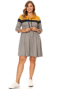 Plus Size Colorblock Hoodie Dress For Women – VIBE Apparel Co.