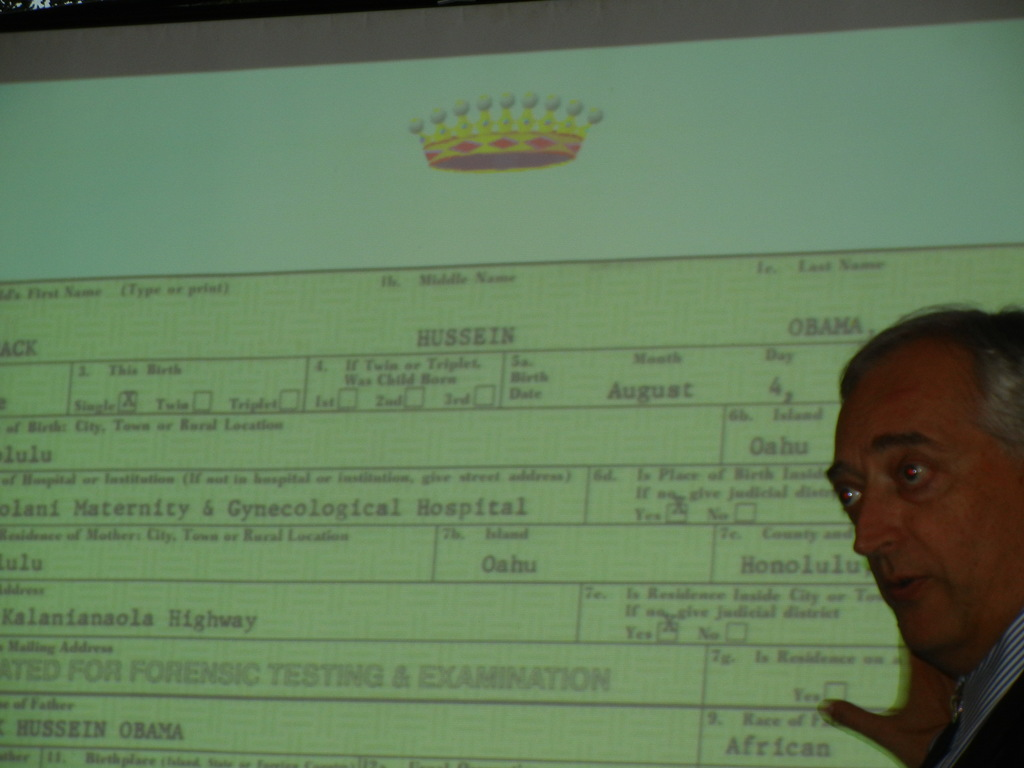"Lord Monckton analyzes mock-up of most famous ""birth certificate"" ever"