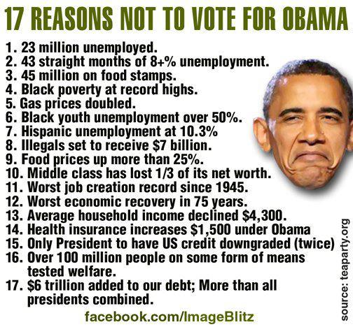 17 Reasons Not to Vote for Obama
