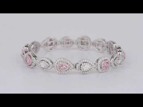 Know About 5.73CT Pink Diamond Bracelet Online by Asteria Diamonds