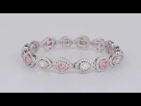 Know About 5.73CT Pink Diamond Bracelet Online by Asteria Diamonds