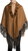 leather-fringe-fur-trim-poncho-camelbrown-original-118439