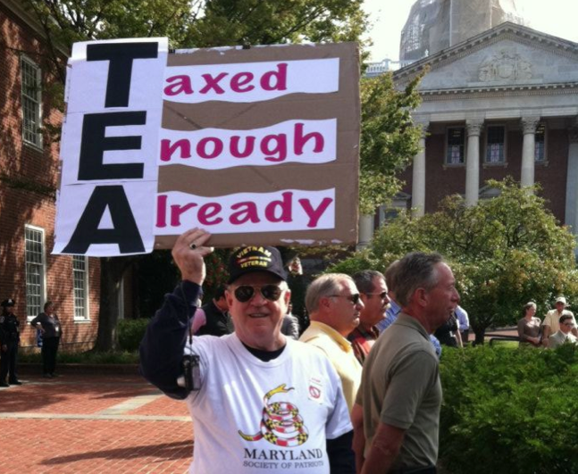 Tea Party in Annapolis, MD 091811