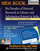 Six Decades of Doctoral Research in Library and Information Science in India: An Analysis & Research Register By Chintha Nagabhushanam and Dr. Surendra Babu