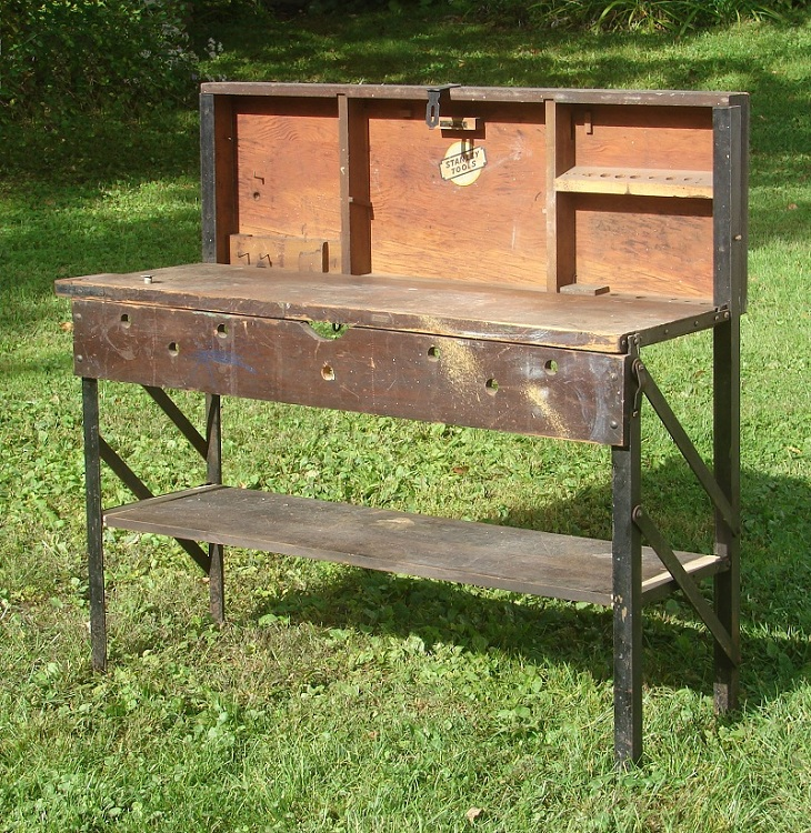 Industrial A Stanley No 860 Folding Tool Chest Workbench I