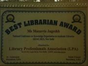 Best Librarian Award- 2013