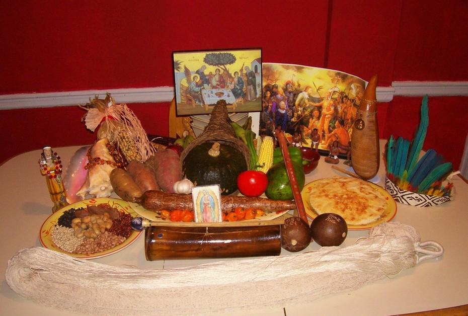 My Thanksgiving 2008 Table Creche