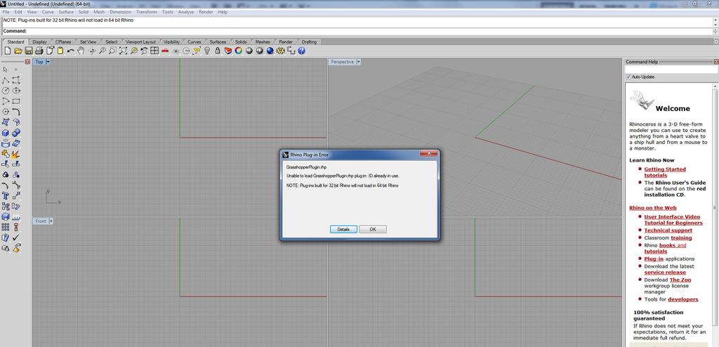 Problem installing grasshopper on Rhino 5 - Grasshopper