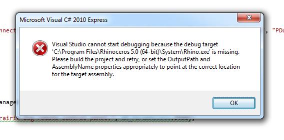 Visual Studio Grasshopper Add-on Problem – Grasshopper