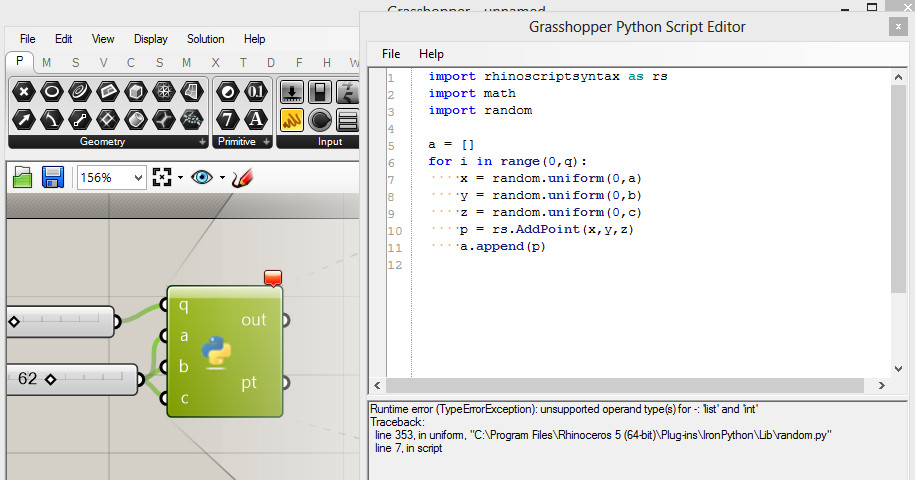 3d Point cloud in Python  - Grasshopper