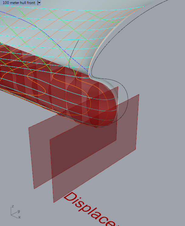 How to exclude surface outside ship hull? – Grasshopper