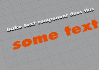 outlines from text to extrude – Grasshopper