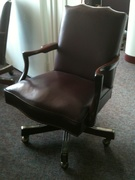 Burgundy conference room chairs