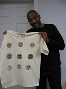 Irv and his completed shirt