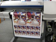 The SP300 printing a picture taken during the class