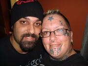 My husband and I after I got my arm Tattoo'd