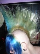 blue/blond.